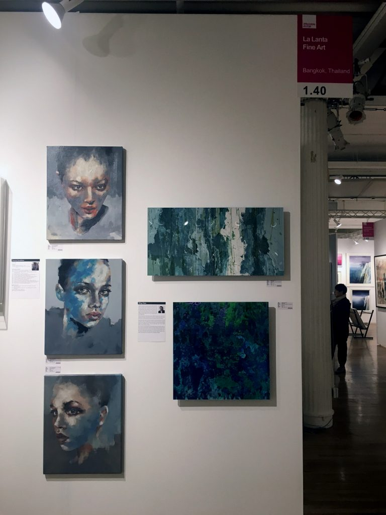 Affordable Art fair NY, New York, contemporary art, figurative artist, British artist base in Asia. Art fair, Artwork for sell,