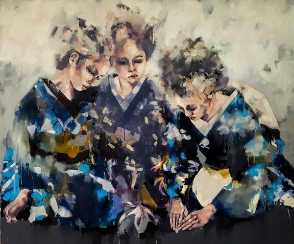 5-19-17 Ritual, oil on canvas, 180x150cm