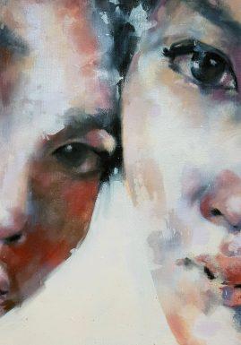7-24-17 three eyes, oil on canvas, 50x50cm