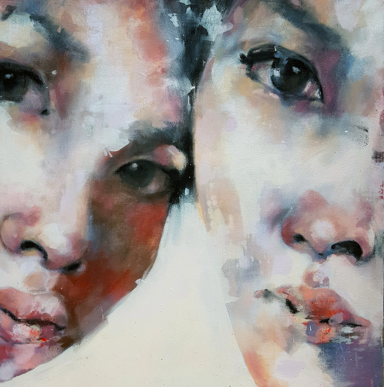 7-24-17 three eyes, oil on canvas, 50x50cm