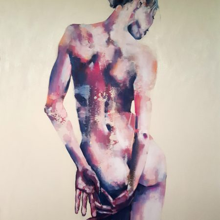 7-5-17 Standing figure, oil on canvas, 146x120cm