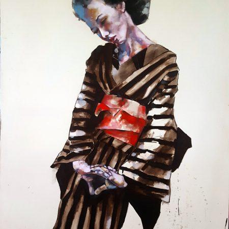 9-16-17 geisha study, oil on canvas, 146x120cm