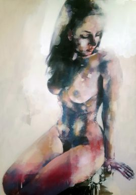 9-8-17 figure study, oil on canvas, 100x70cm