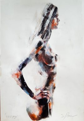 11-12-17 figure study, mixedmedia on paper, 56x38cm