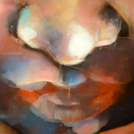 1-26-18 head, oil on canvas, 120x120cm