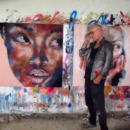 1-21-18 Head Study, oil on canvas, 120x120cm