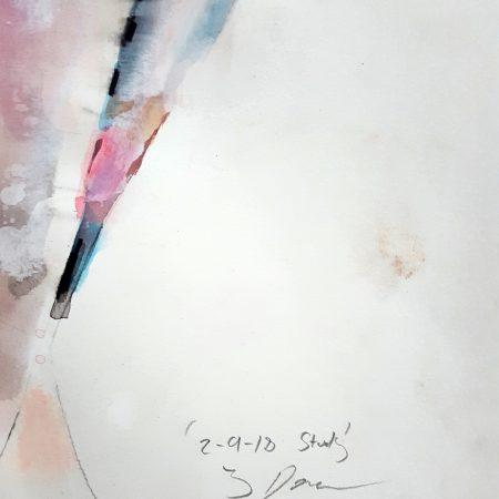2-9-18 figure, mixed media on paper, 56x38cm