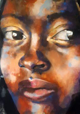 2-21-18 Jareh, oil on canvas, 120x120cm