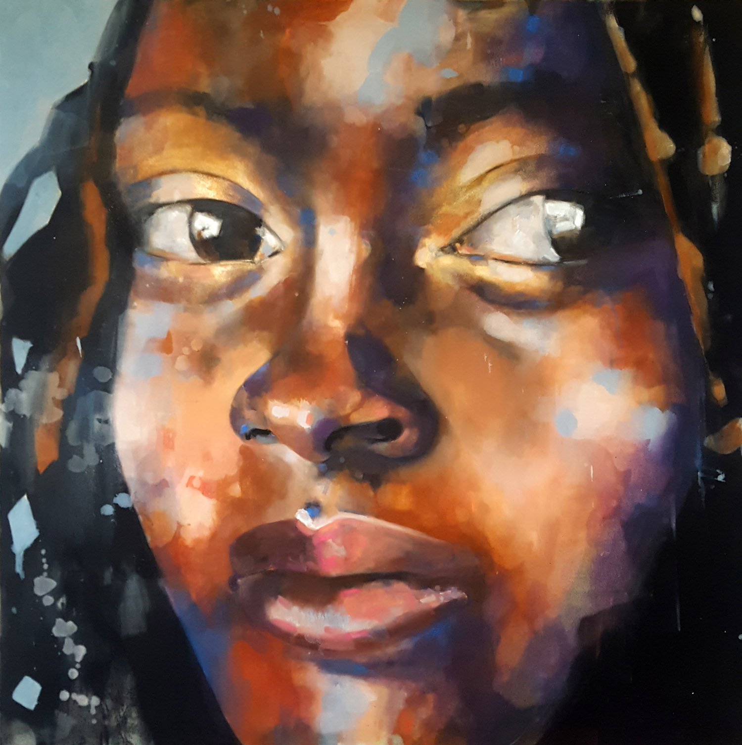 2-21-18 Jareh, oil on canvas, 120x120cm