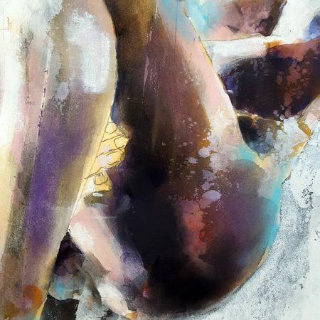 3-8-18 seated figure, mixedmedia on paper, 56x38cm