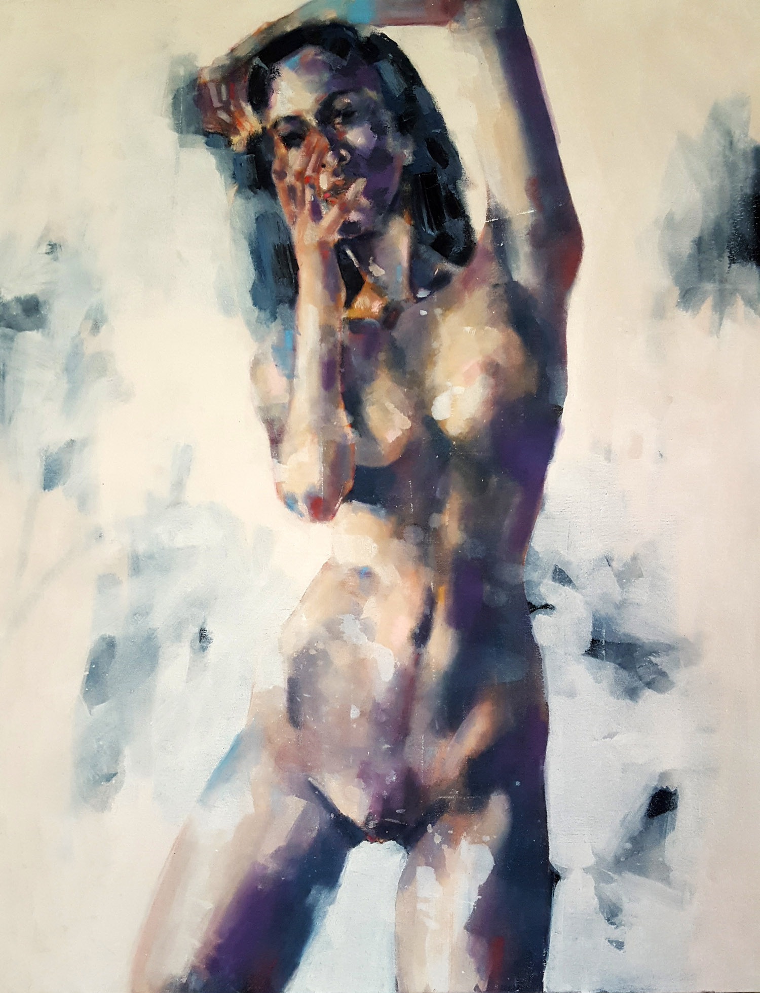 3-14-18 standing figure, oil on canvas, 90x70cm