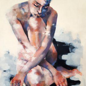3-15-18 figure study, oil on canvas, 90x70cm