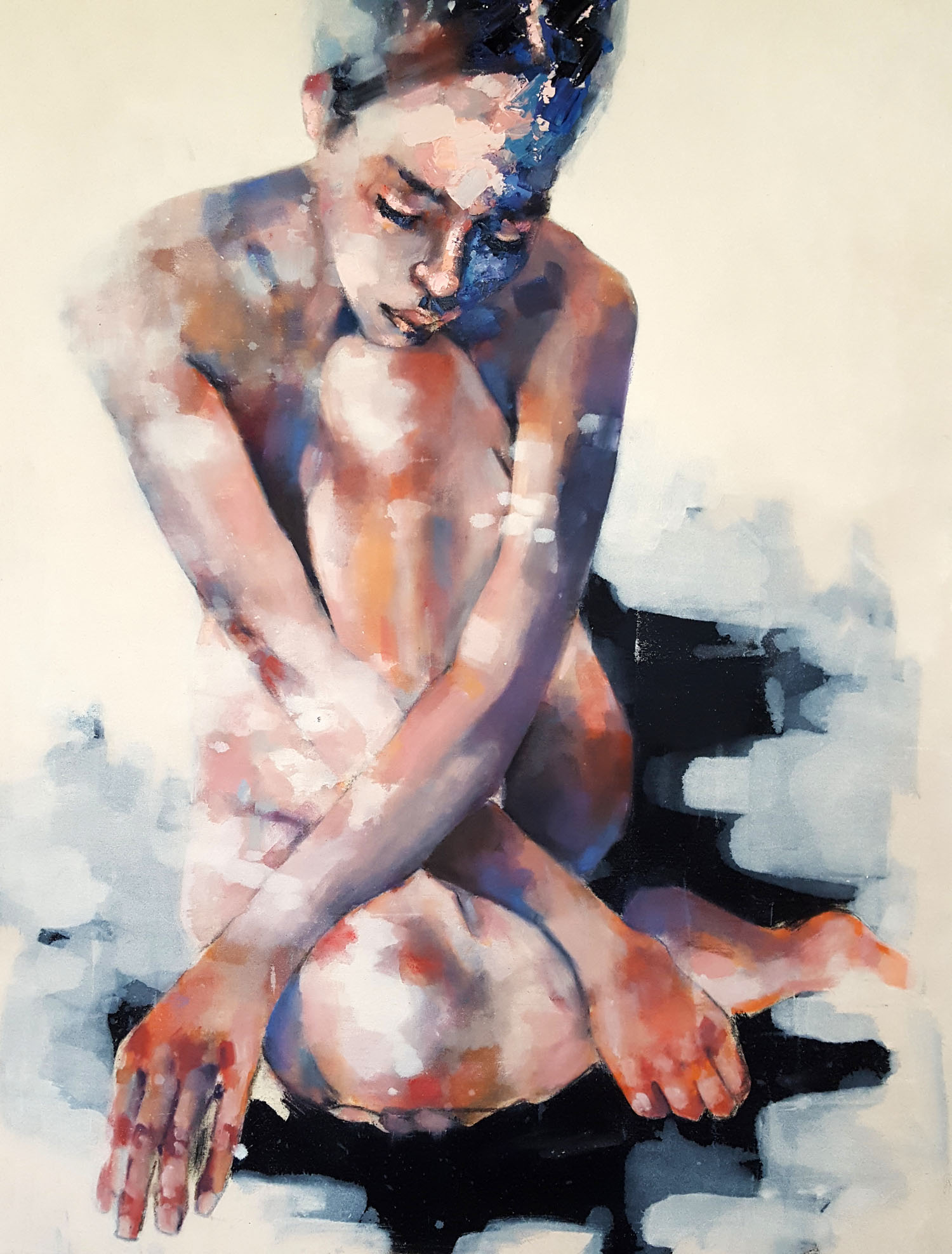 3-15-18 figure study, oil on canvas, 90x70cm