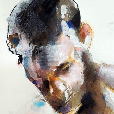 4-28-18 figure, mixedmedia on paper, 56x38cm