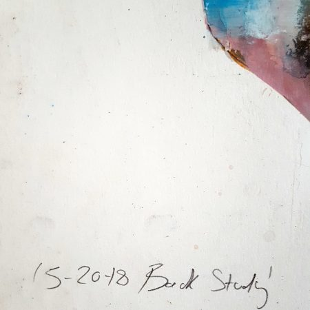 5-20-18 back study, mixedmedia on paper, 56x38cm