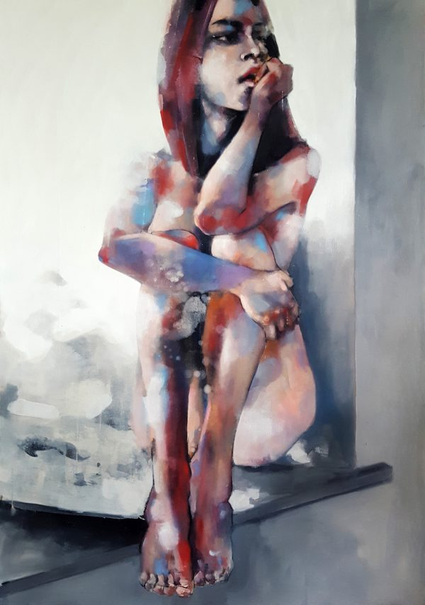 4-1-18 figure study, oil on canvas, 100x70cm