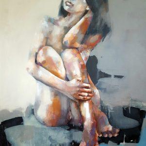 4-22-18 figure, oil on canvas, 100x80cm