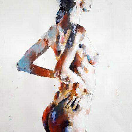 5-1-18 figure, mixedmedia on paper, 56x38cm