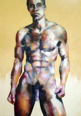 5-17-18 standing male figure, oil on canvas, 100x80cm