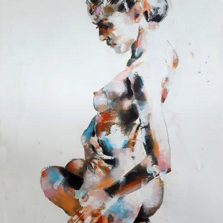5-18-18 figure study, mixedmedia on paper, 56x38cm