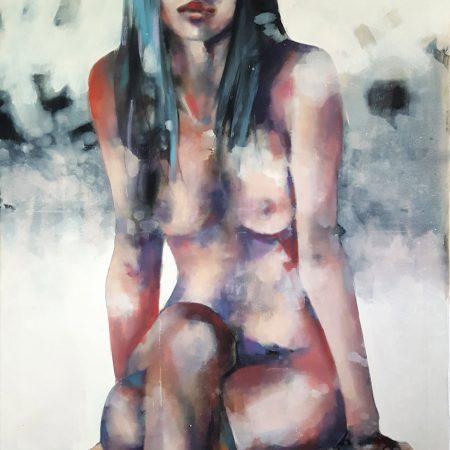 4-2-18 figure, oil on canvas, 100x70cm