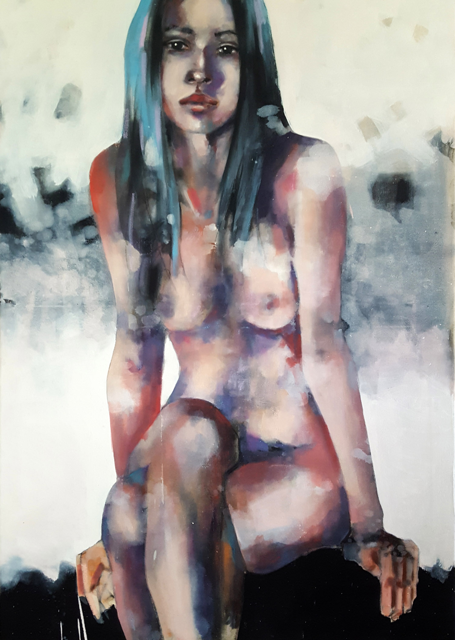 4-2-18 figure, oil on canvas, 100x70cm
