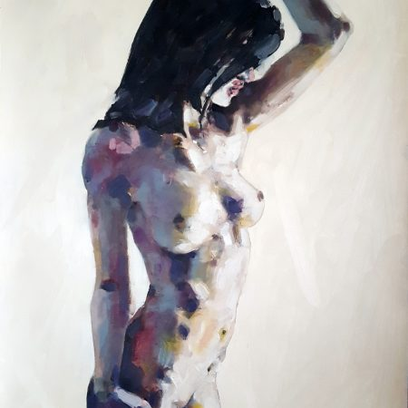 7-6-18 standing figure, oil on paper, 76x56cm