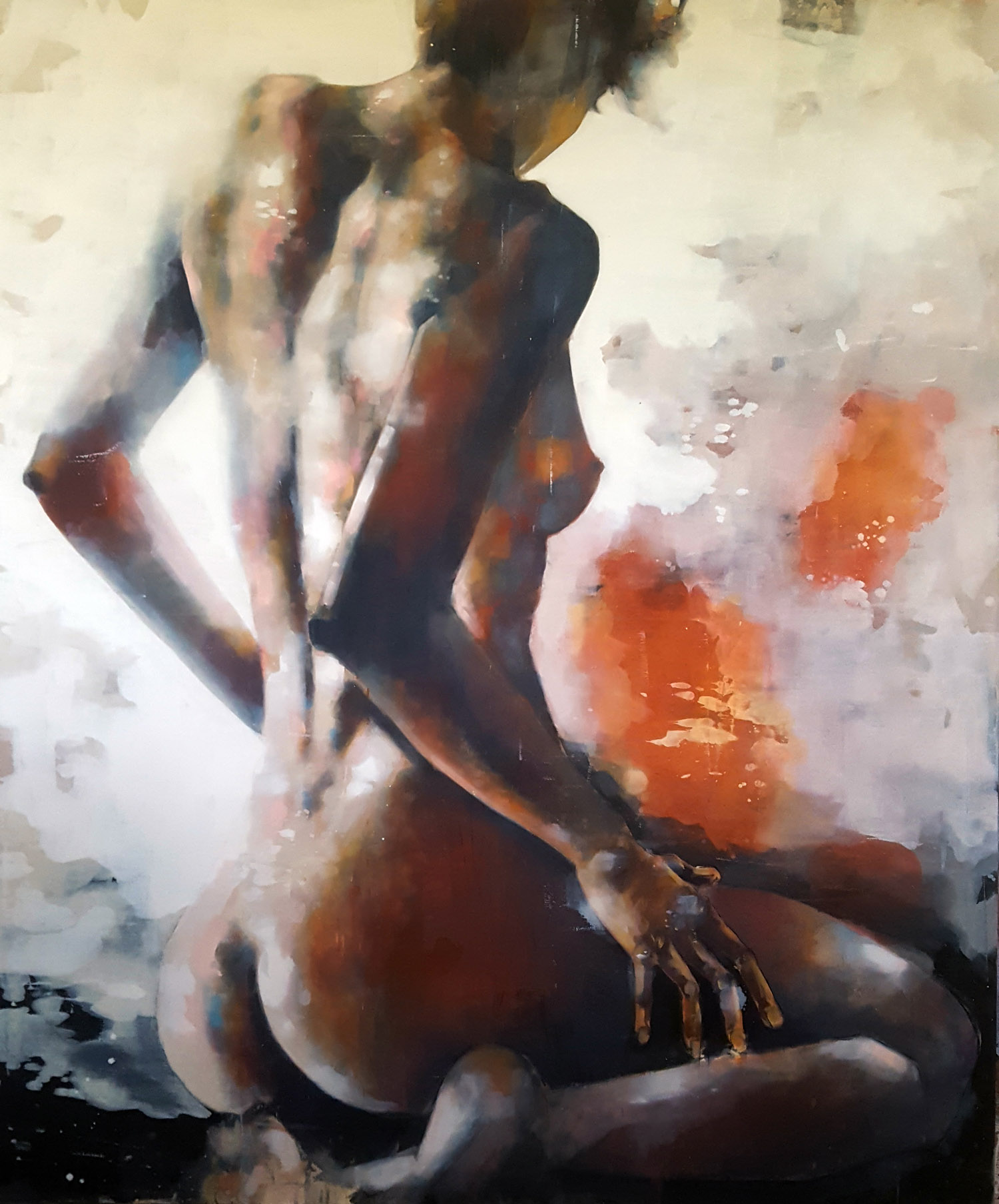 10-29-18 back study, oil on canvas, 180x150cm