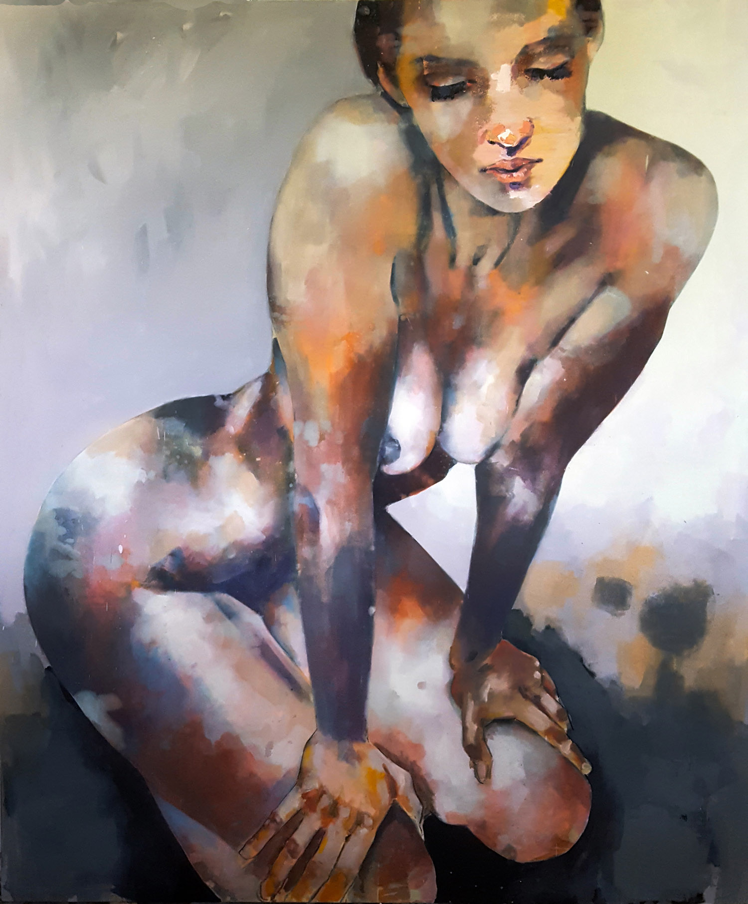10-28-18 figure, oil on canvas, 180x150cm