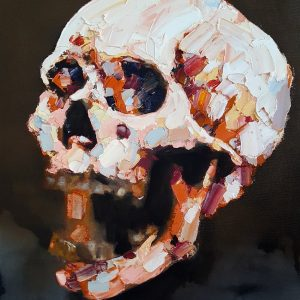 skull study I 5-8-19 oil on canvas, 50x40cm