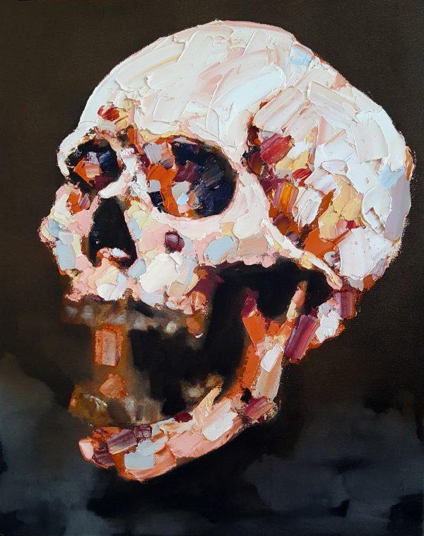 skull study I 5-8-19 oil on canvas, 50x40cm